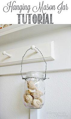 Hanging Mason Jar Tutorial