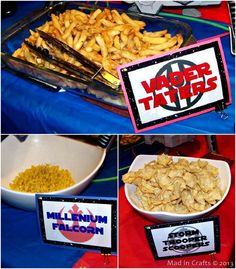Star Wars Party Food... vader tatters with hash browns?