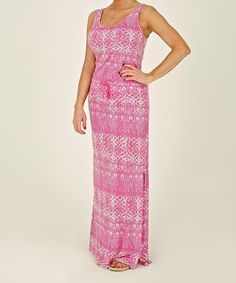 Another great find on #zulily! Pink Morn Abstract Sleeveless Dress by Margaritaville Apparel #zulilyfinds