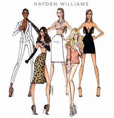 #Hayden Williams Fashion Illustrations #Hayden Williams 2014
