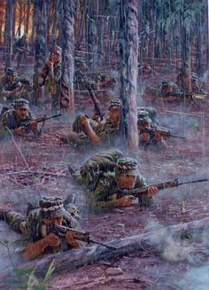 """On 18 August 1966 at Long Tan, South Vietnam, elements of D Company, Battalion, The Royal Australian Regiment made contact with what would turn out to be a regiment of Viet Cong supported by at least a battalion of North Vietnamese Army forces"""": Military Art, Military History, Sniper Ghost Warrior 3, North Vietnamese Army, Military Drawings, Vietnam War Photos, South Vietnam, Vietnam Veterans, Modern Warfare"""