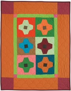 Granny Squares by Pam Rocco from Quilters Newsletter October/November 2016