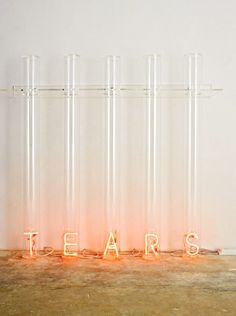 words in tubes... florescent tubes