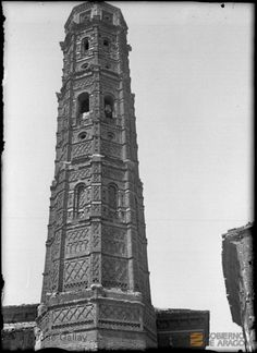Muniesa (Teruel). Iglesia parroquial. Torre mudéjar octogonal DARA :: Detalle de Registro