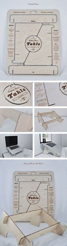 Takls Laptop Stand by Marcus Kai Nielsen, via Behance                                                                                                                                                                                 More