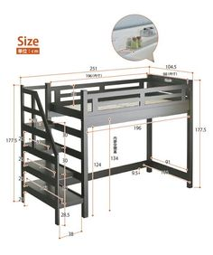 35 models loft beds ideas don't regret, before buying read this loft beds wood or metal 22 Loft Beds For Small Rooms, Small Room Bedroom, Bedroom Loft, Loft Bed Plans, Murphy Bed Plans, Bunk Bed With Desk, Bunk Beds With Stairs, Bunk Bed Designs, Home Room Design