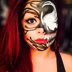 Female Venom Makeup.