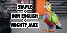 "Ron English x Staple Design x Mighty Jaxx - ""Pigeon"" vinyl art figure! #DesignerToyArtToy #Grin #LimitedEdition #MightyJaxx"