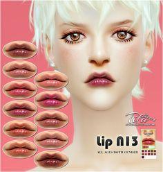 Lips N13 at Tifa Sims via Sims 4 Updates