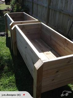 Raised Vegetable / Garden Box. I really would love something like this since I am not able to bend too much or use my hands due to my RSD