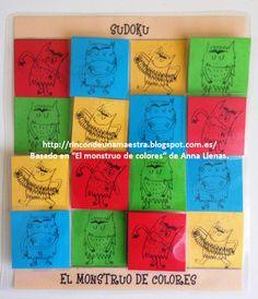 """Rincón de una maestra: El sudoku de """"El monstruo de colores"""""""