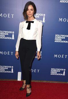 Who: Abigail Spencer Wore: Dolce & Gabbana Where: 2014 Creative Arts Emmy Awards | http://aol.it/1oJUQXA