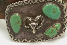 Vintage Sheep Head and Kingman Turquoise Belt Buckle with Size | Etsy Vintage Accessories, Vintage Jewelry, Hippie Bracelets, Unique Gifts For Him, Unique Christmas Gifts, Kingman Turquoise, Simplicity Sewing Patterns, Vintage Handbags, Makers Mark