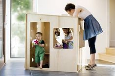 Puzzle Playhouse that assembles and disassembles! Must get Mitch to build this for Luke!