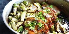 Ginger Glazed Pork Chops with Brussels Sprouts Recipe