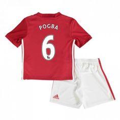 Manchester United Trøje Børn 16-17 Paul #Pogba 6 Hjemmebanetrøje Kort ærmer,199,62KR,shirtshopservice@gmail.com
