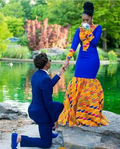 Couple's outfit/ ankara women dress/prom couple clothing/african print dress/african men's clothing/african women's clothing/ prom dress African Prom Dresses, African Wedding Dress, African Fashion Dresses, African Dress, African Style, Fashion Outfits, Fashion Styles, Couples African Outfits, Fashion Hacks