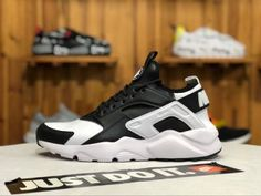 e8e5fa625101 Nike Air Huarache Run Premium Black White Mens Womens Running Winter Shoes  Winter Running