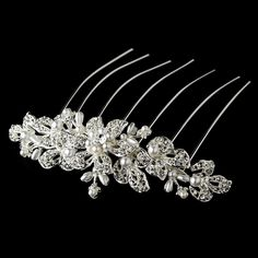 Barbara Elegant Faux Pearl and Rhinestone Wedding Bridal Special Occasion Hair Comb *** More info could be found at the image url.