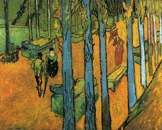 Les Alychamps, Autumn by Vincent van Gogh #art