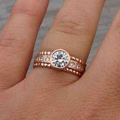 Rose Gold Engagement Rings Etsy
