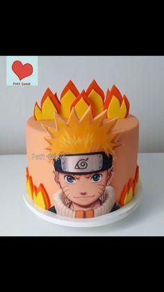 Birthday Cake Bakery, 22nd Birthday Cakes, Birthday Cale, Creative Cake Decorating, Creative Cakes, Bolo Do Naruto, Tortas Deli, Naruto Party Ideas, Naruto Birthday