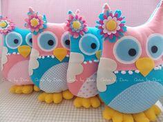 Corujinhas rosa e azul turquesa ♡ | A cliente Bruna - Niteró… | Flickr
