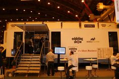 Facilitating show networking, we provided the #ExhibitionShow with a large expandable event trailer #Exhibition