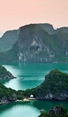 At Hạ Long Bay in Northeast Vietnam.