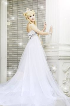 Sailormoon Princess Serenity Cosplay Costume Dress  Free by Cosrea on Etsy
