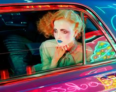 Madison Stubbington for Vogue Italia September 2015 issue by Miles Aldridge; September 2015 issue. Styling is courtesy of Karen Langley with hair by Kerry Warn, makeup by Isamaya Ffrench, and manicure by Shreen Gayle.