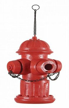 Fire Hydrant birdhouse-just watch out for any dogs coming by bird buddies  We have to get this ! :-)