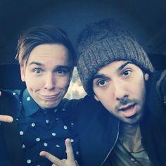 Een selfie van Mert en Dylan. #Fun #McDonald's #Mert #Dylan #partners #Selfie