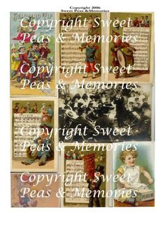 Music Digital Collage Sheet by jbarretto on Etsy, $2.49