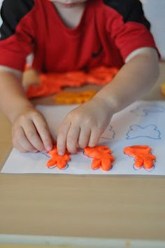 Play Dough Matching Mat. Use cookie cutters and play dough to make a fun matching and/or pattern or color or number or shape activity.