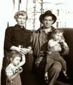 Carolyn Cassady with her children Cathy and Jami and a visiting Jack Kerouac