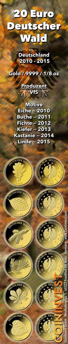 20 Euro Deutscher Wald 2010-2015 — Goldmünzen Deutschland — VfS (Infografik) | goldankauf-haeger.de