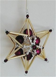 Purple Gold and Silver Star