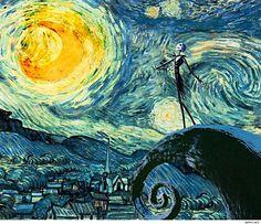 Van Gogh/Nightmare Before Christmas mashup