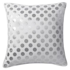 Shine bright with our metallic Euro sham. Stamped with foil dots, it adds eye-catching shimmer to your bed. Girls Room Paint, Girls Bedroom, Metallic Prints, Euro Shams, Dots Design, Pbteen, Cool Rooms, Pillow Talk, Kids Rooms