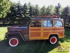 real jeeps | 1961 WILLYS REAL WOODY, WOODIE, SURF, JEEP, RARE, ONE OF ONE IN THE ...