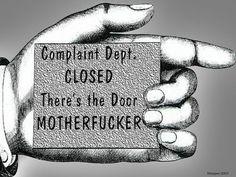 COMPLAINT DEPARTMENT...