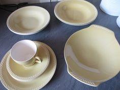 Figgjo - Sissel (yellow) Ragnar, Cutlery, Designing Women, Norway, Sweden, Scandinavian, Porcelain, Plates, Ceramics