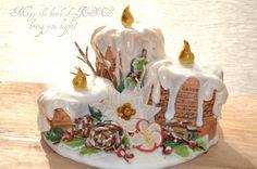 Candles Christmas Cake