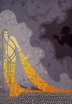 Art Deco ERTE. Chains and gold.