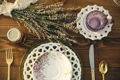 Lavender-inspired table decor | Hartman Outdoor Photography