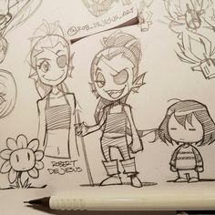 More Undertale doodles from yesterday's live stream.