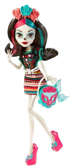 Hallowen New Lucha-themed Skelita doll will be a must-have around here! Plus Frida headb. , New Lucha-themed Skelita doll will be a must-have around here! Plus Frida headb. New Lucha-themed Skelita doll will be a must-have around here! Monster High Repaint, Monster High Skelita, Soirée Monster High, New Monster High Dolls, Festa Monster High, Monster High Birthday, Love Monster, Monster High Custom, Monster High Halloween