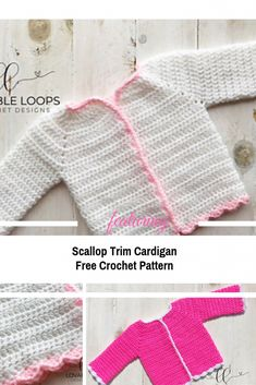 1774bc6199802 Simple And Easy Long Sleeved Cardigan For Babies And Toddlers  Free Pattern   Crochet Toddler