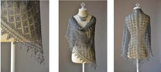 This beautiful knit lace shawl is so sheer that it almost floats and it is the perfect accessory for going places. Get the FREE pattern NOW! Video tutorial.